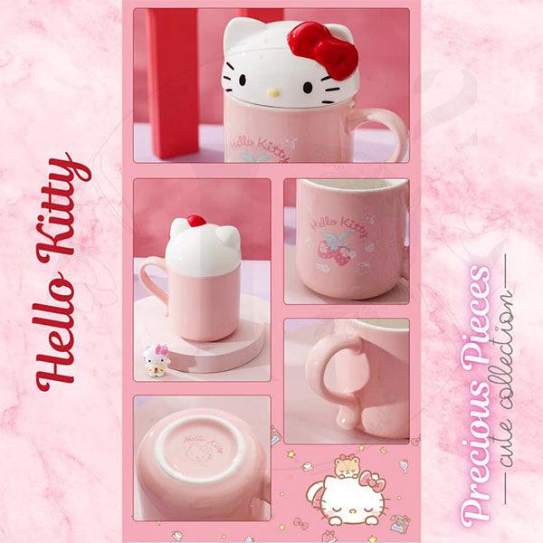 hello kitty 3d lid sanrio mugs
