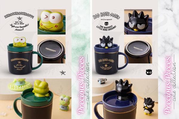 keroppi and bad badtz maru creative phone holder sanrio mugs