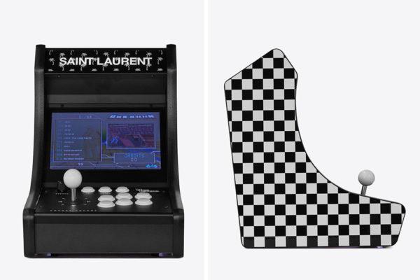 saint laurent retro arcade machine collage