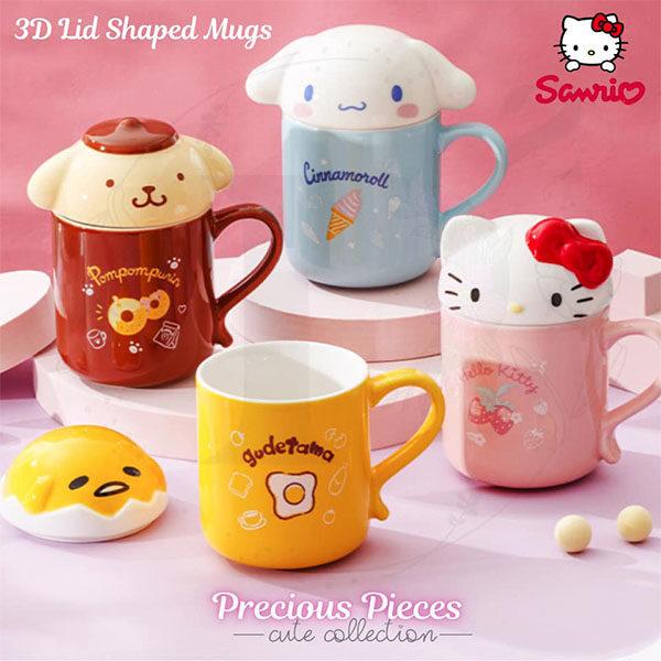 sanrio 3d lid mugs