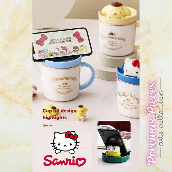 sanrio creative phone holder mugs lid