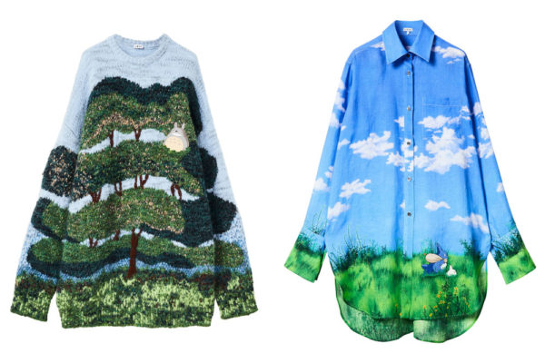 totoro pullover and button up