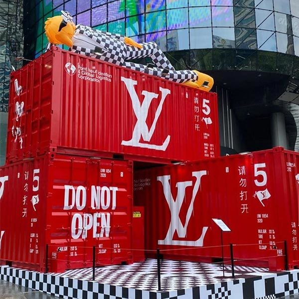 Louis Vuitton shipping containers