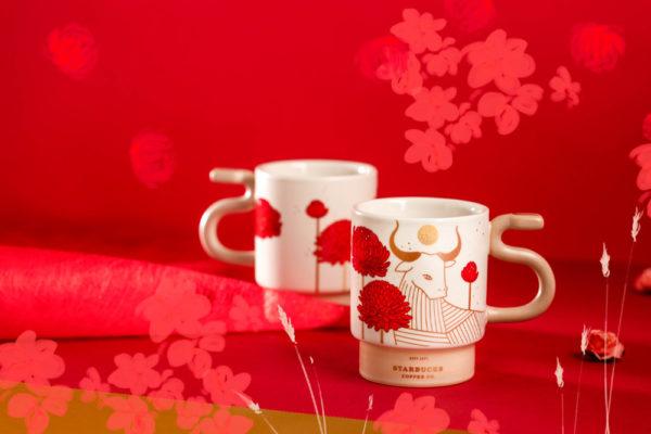 starbucks chinese new year ox tail mug