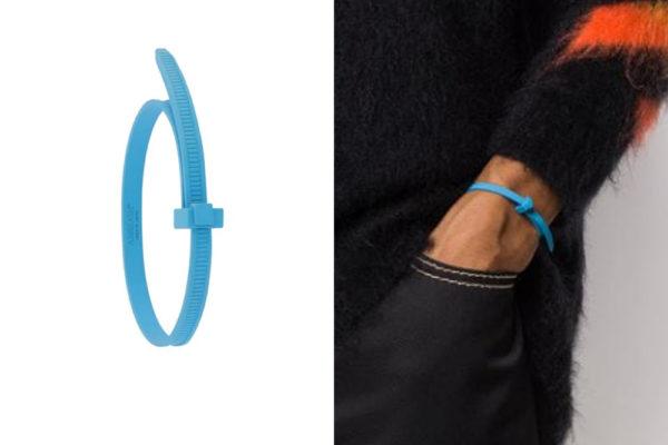 cable tie bracelet blue