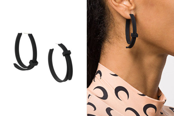 cable tie earring black
