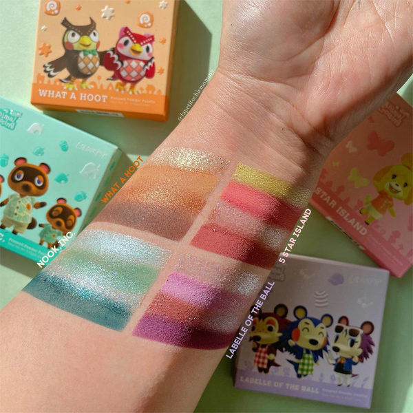 colourpop animal crossing eyeshadow swatch
