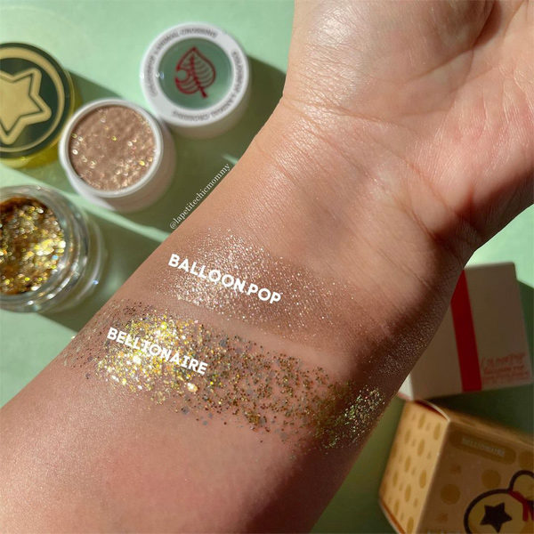 colourpop animal crossing pressed glitter swatch