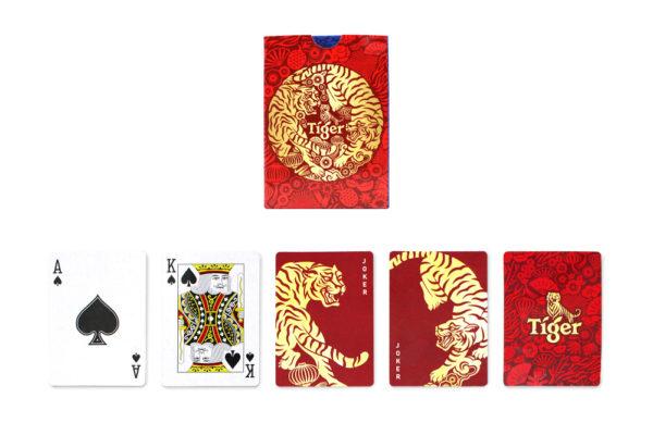 tiger beer cny poker cards
