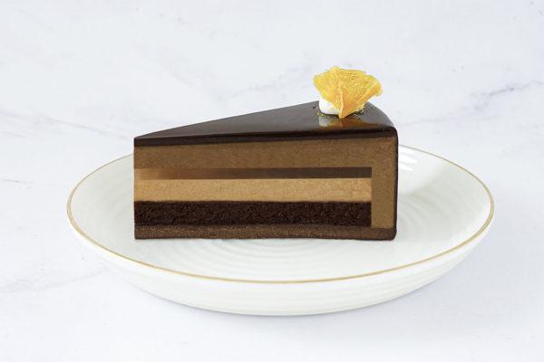 whisky dark chocolate mousse lady m one slice