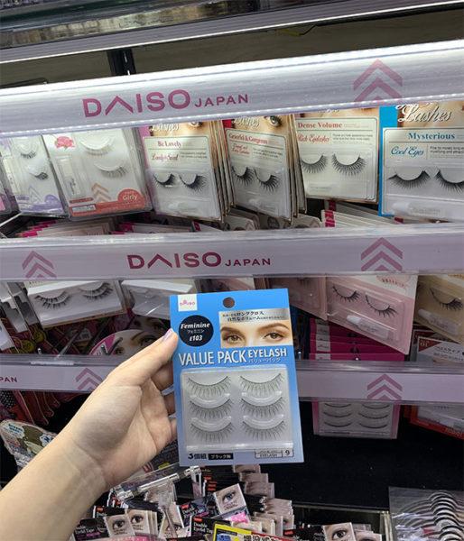 daiso beauty products fake eyelashes