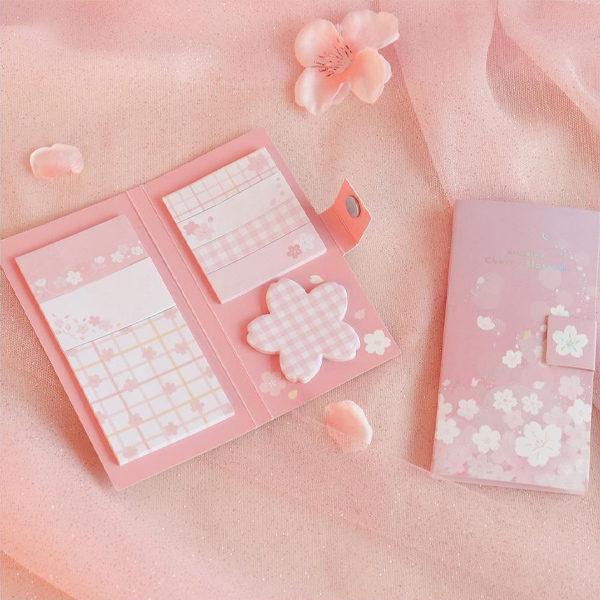 daiso korea cherry blossom post its