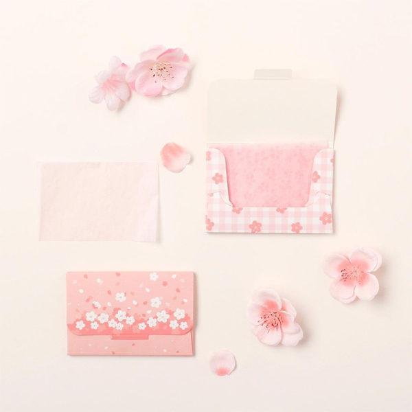 daiso korea cherry blossom oil blotting