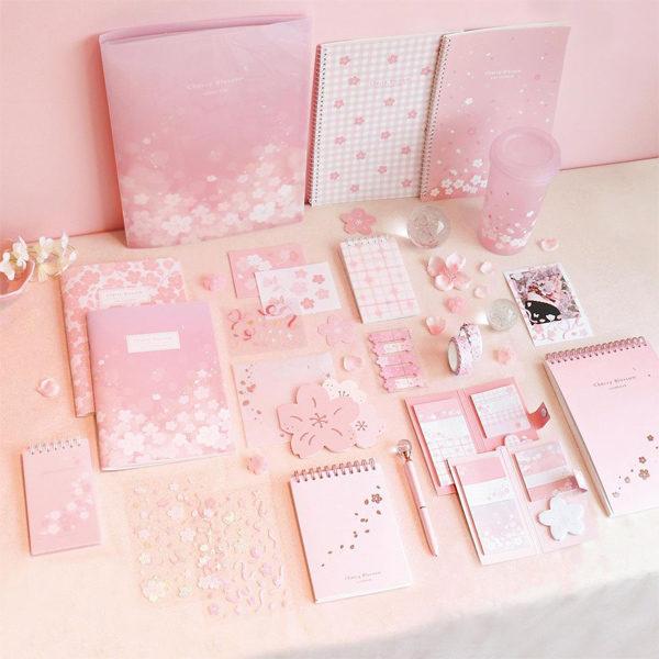 daiso korea cherry blossom stationery