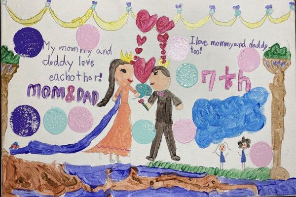 jisung's daughter drawing