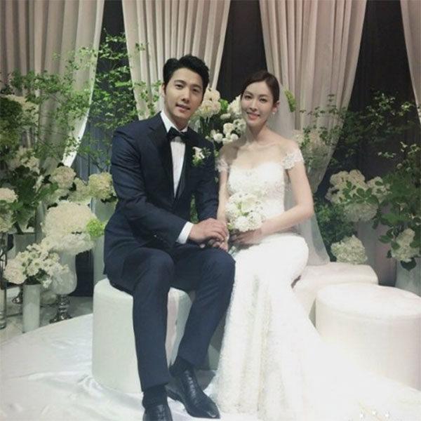 kim so yeon and lee sang woo wedding pic