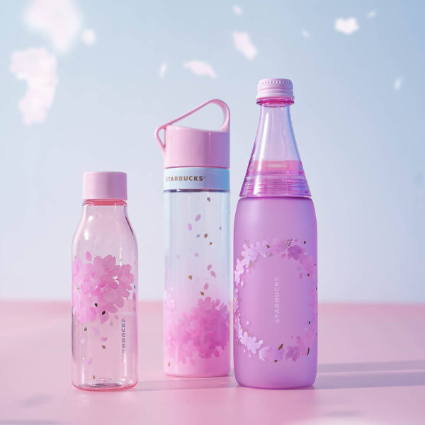 starbucks sakura 2021 clear bottles
