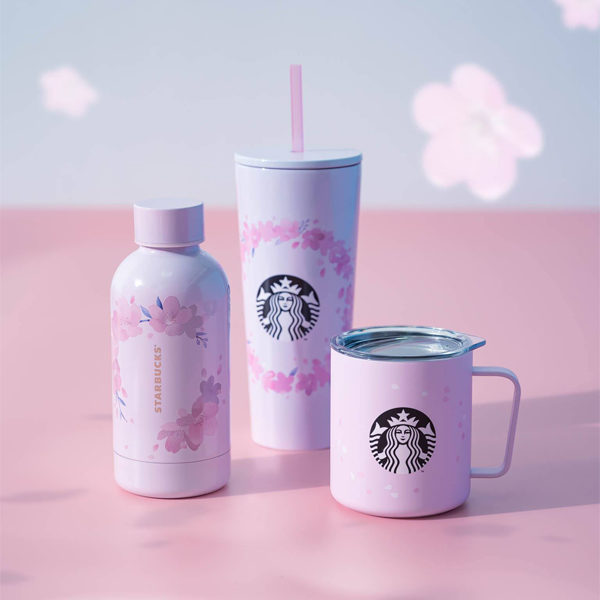 starbucks sakura cups and bottle
