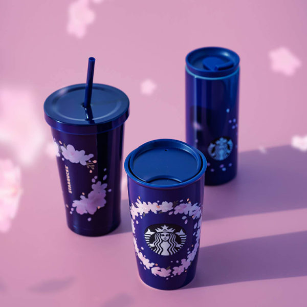starbucks sakura 2021 navy bottle