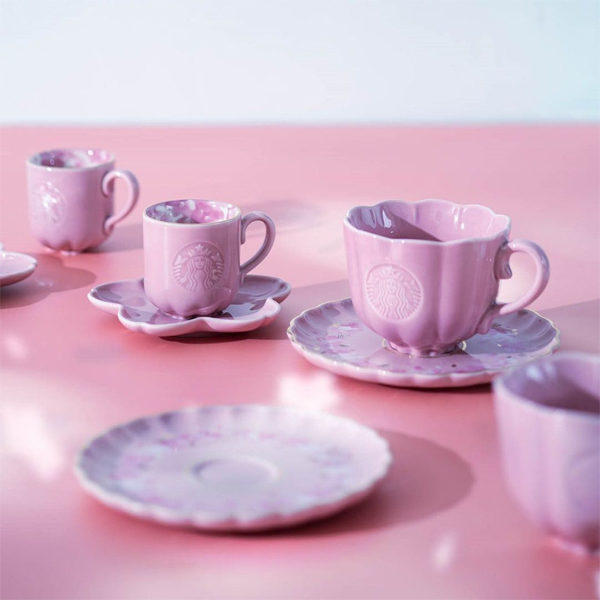 starbucks sakura pink teacups