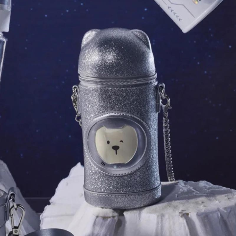 Starbucks Space Bear Glitter Bag