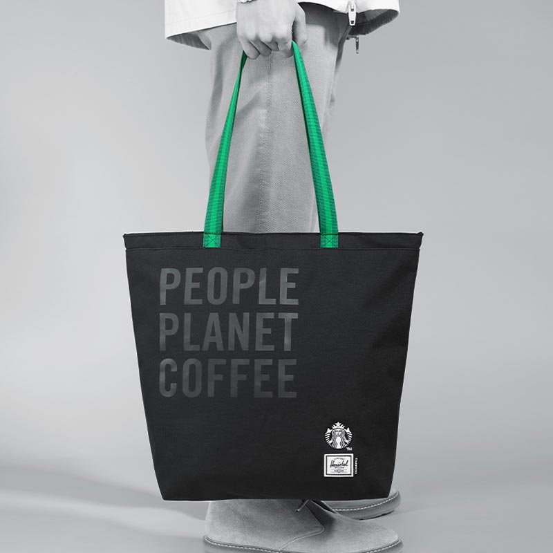 Starbucks Herschel Supply Tote Bag