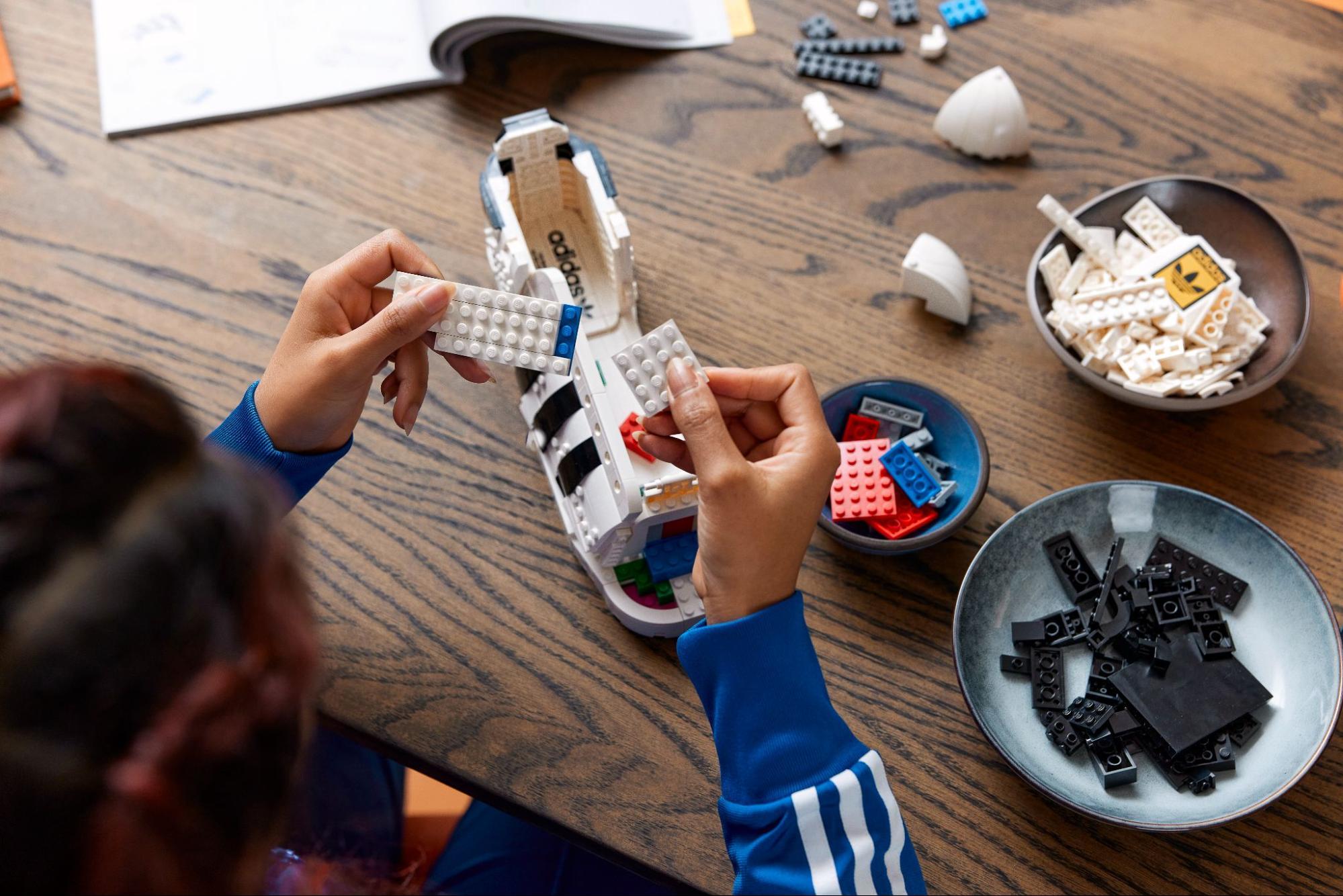 making lego shoes