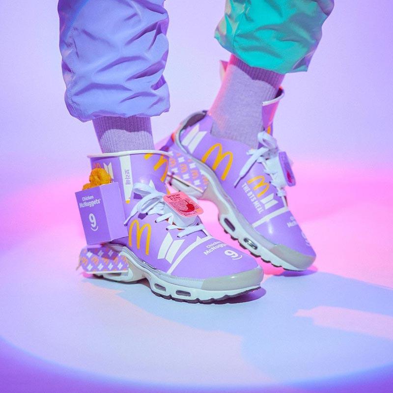 BTS Meal Sneakers Design