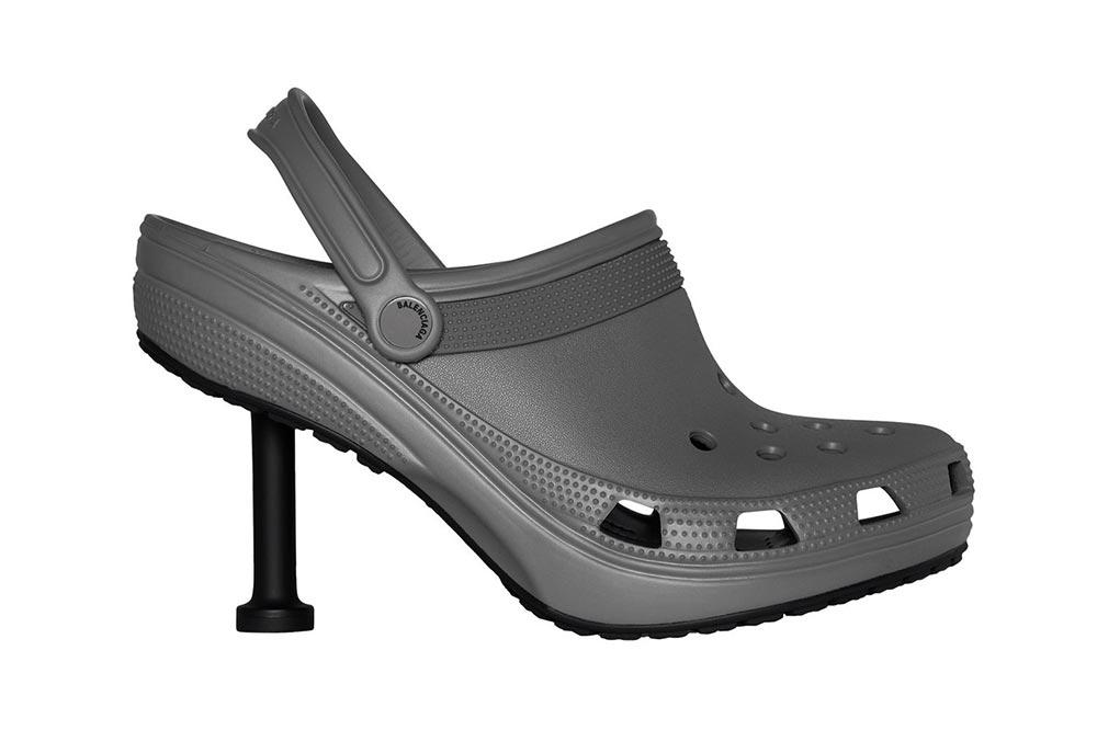 Balenciaga Crocs Grey Stilettos