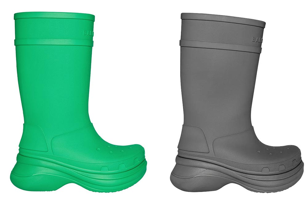 Balenciaga Crocs Rainboots