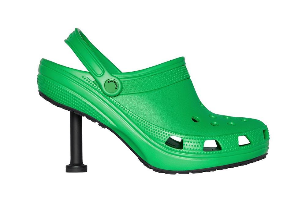 Balenciaga Crocs Stilettos Green