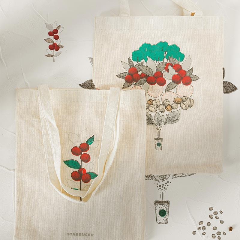 Starbucks Heritage Collection Tote Bag