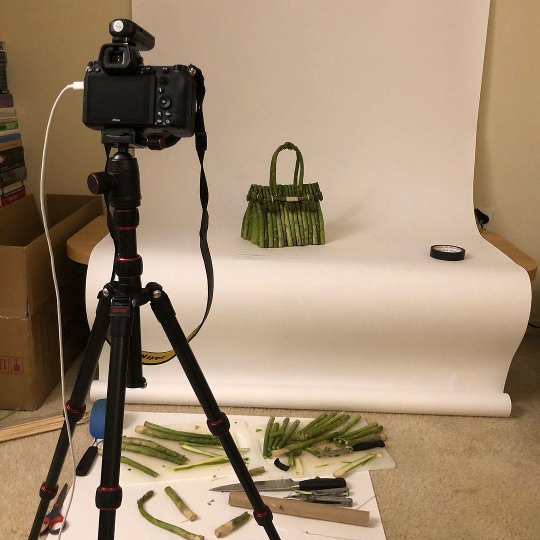 vegetable bag photoshoot