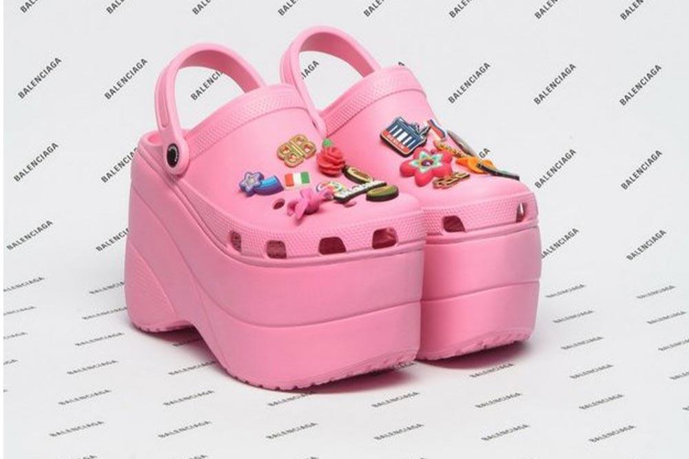 Balenciaga Crocs Platform Clogs