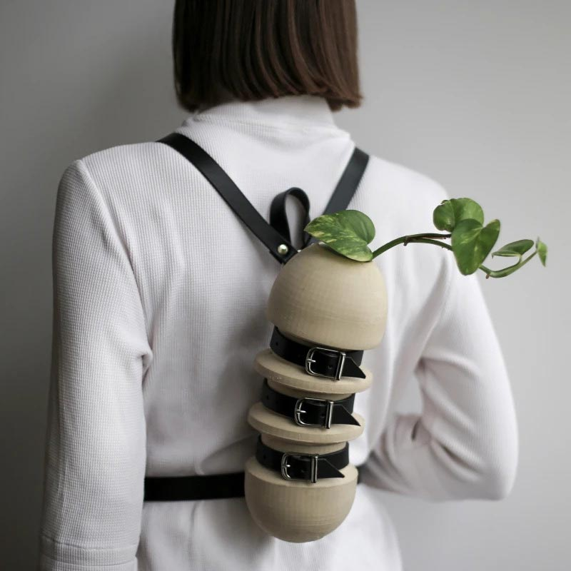 Wearable Plant Vase Carrying