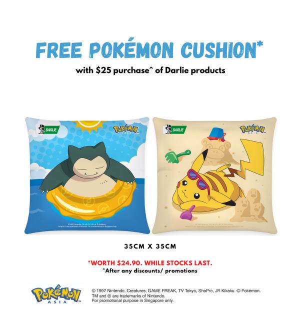 darlie pokemon cushions
