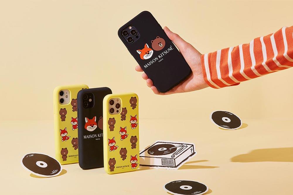 Line Friends Maison Kitsuné Phone Cases