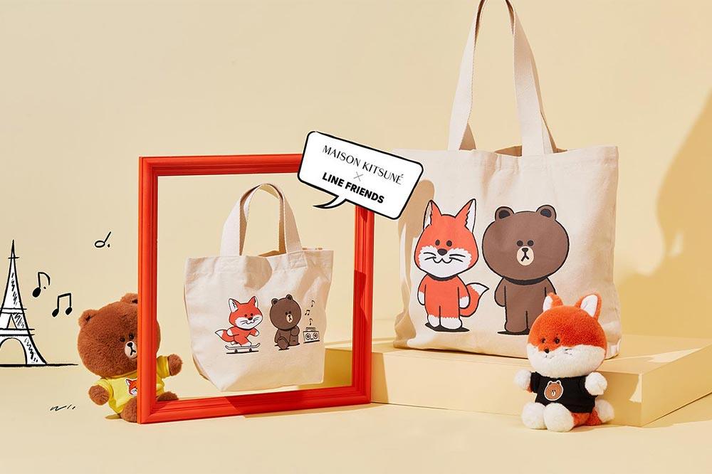 Line Friends Maison Kitsuné Tote Bag