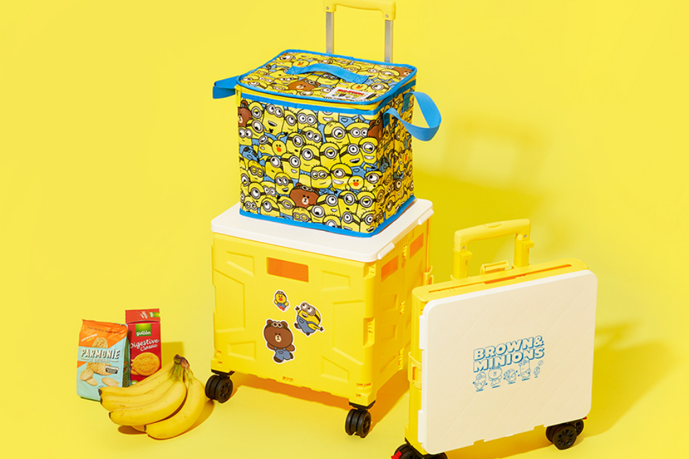 minions and line friends crate