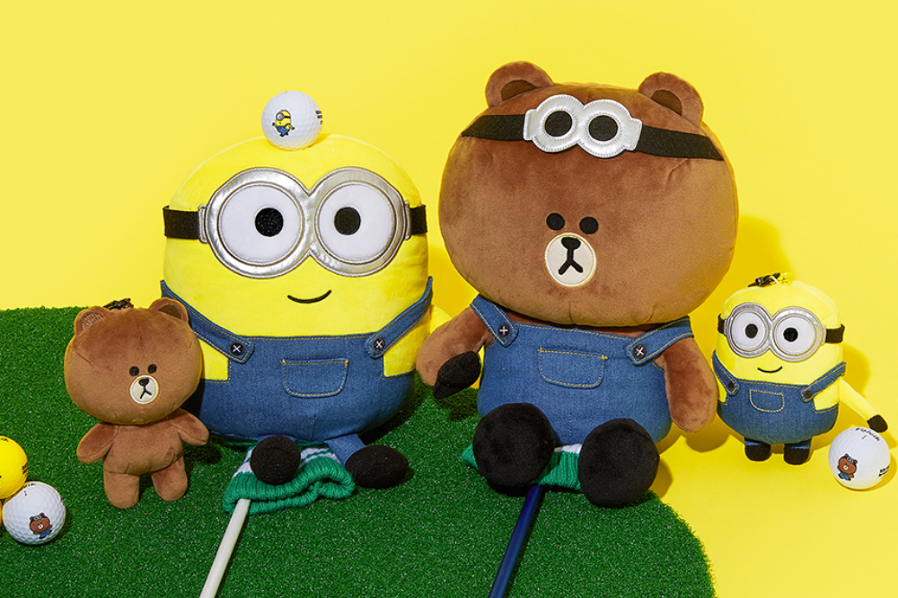 minions line friends - bob and brown golf covers