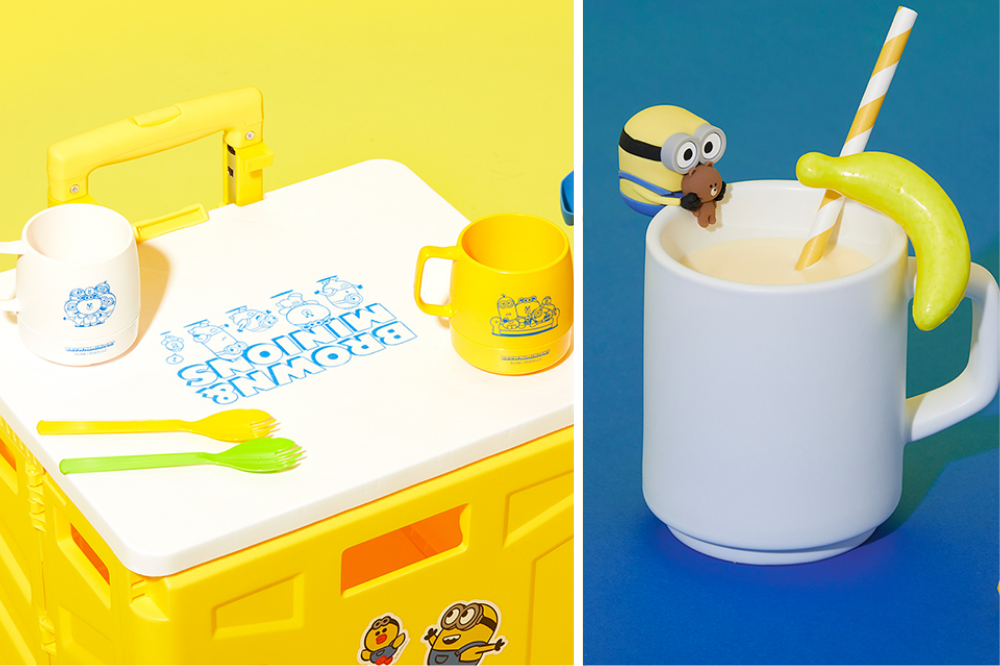 minions line friends - minion cups and drink markers