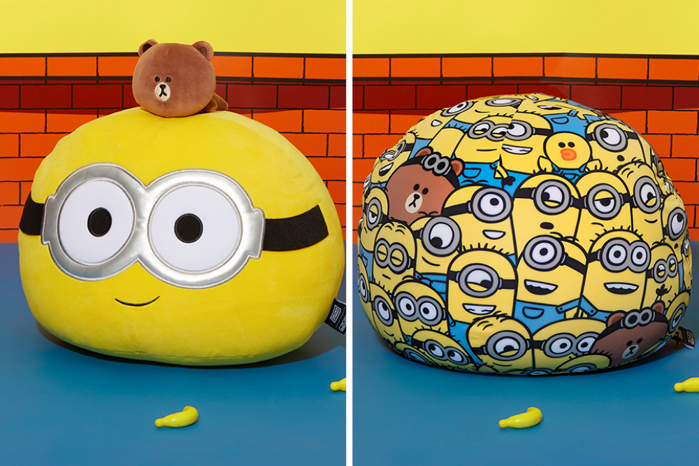bob and brown pouffes