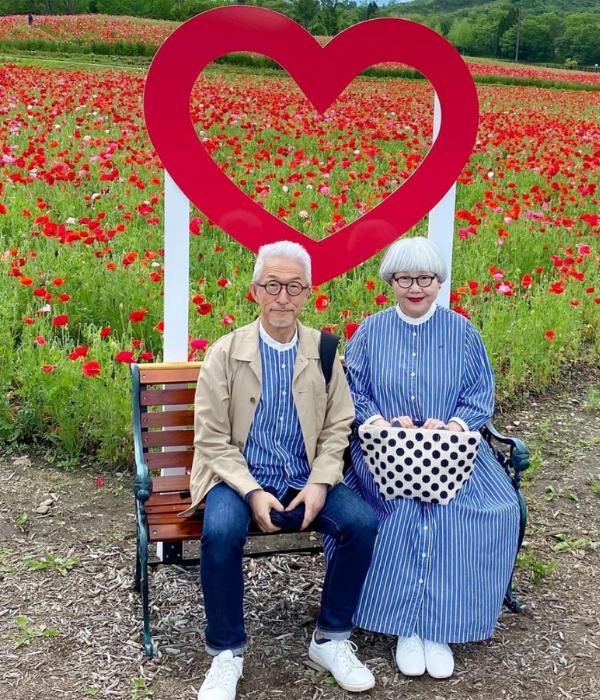 japanese couple outfits - bonpon heart