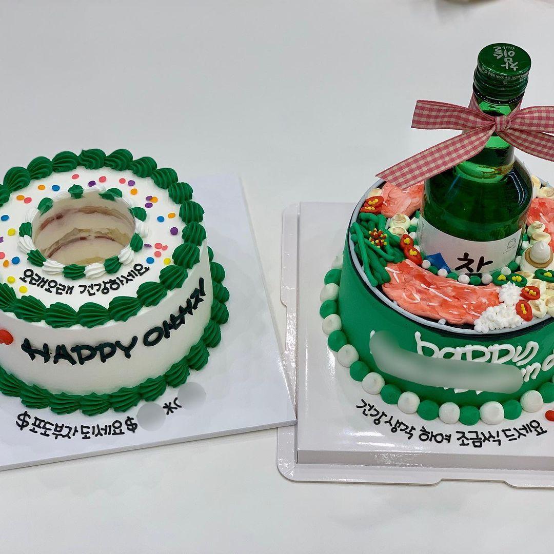 Soju Bottle Cakes