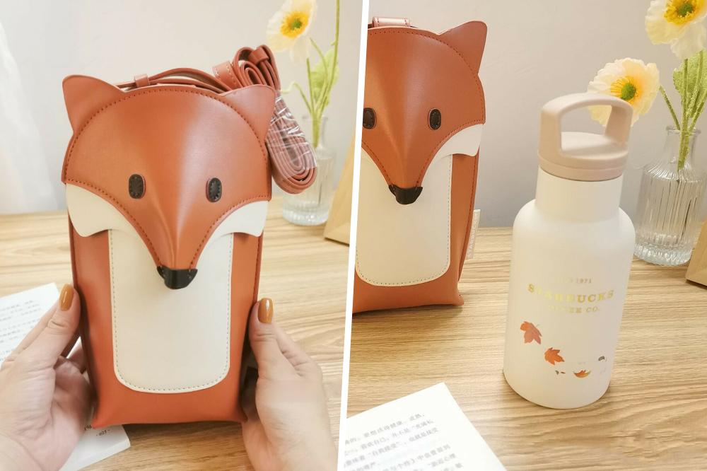 starbucks fox bag