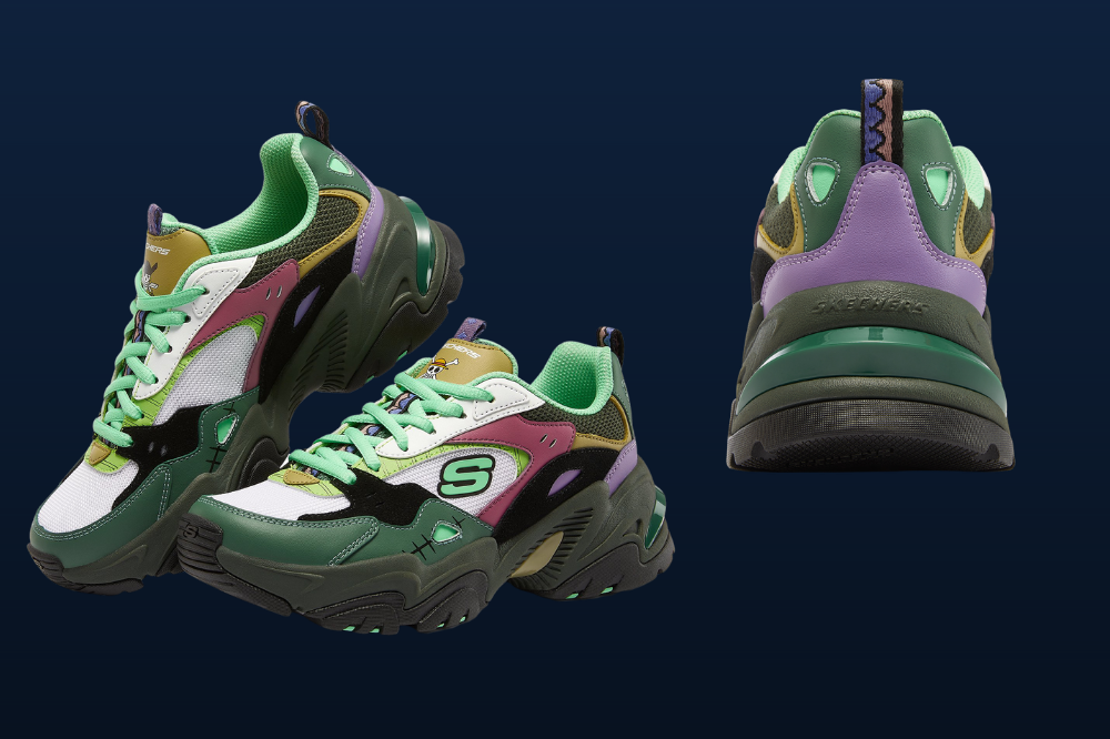 skechers x one piece sneakers roronoa