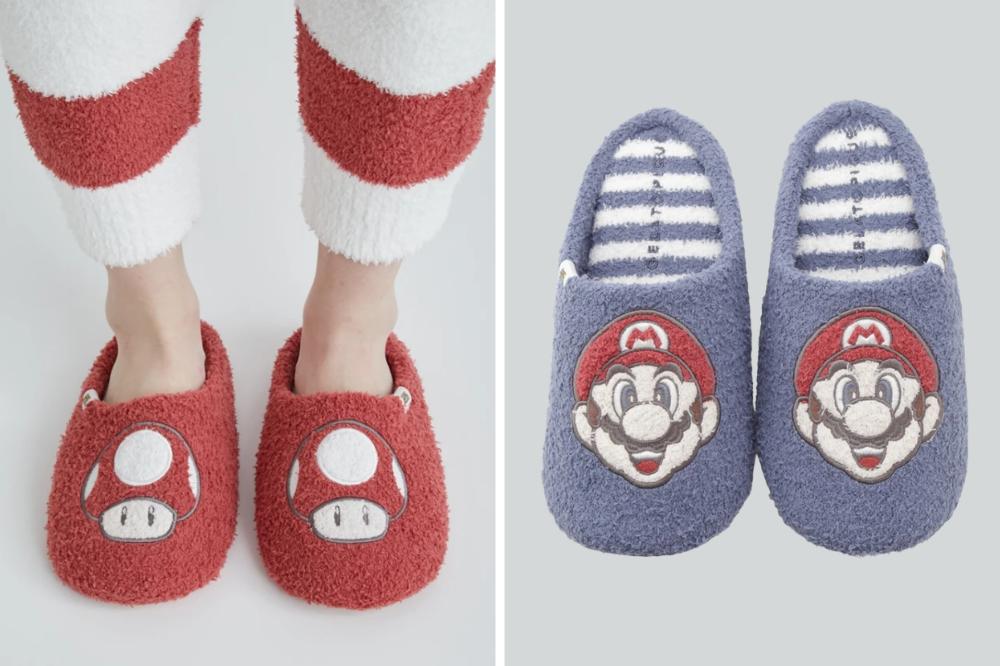 mario bedroom slippers